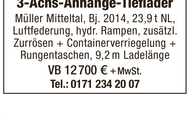 3-Achs-Anhänger-Tieflader Müller Mitteltal