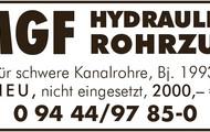 MGF Hydraulik-Rohrzug
