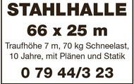STAHLHALLE 66 x 25 m