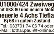 Unimog U1000/424 + Scheuerle 4-Achs-Tieflader