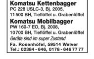 Komatsu Kettenbagger und Mobilbagger
