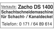 Verkaufe: Zacho DS 1400