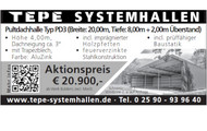 TEPE Systemhallen Pultdachhalle Typ PD3