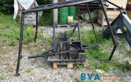 Metall-Forstrahmen (Personenschutz)mit Bodenschutzplatte für Fendt 3800 und 3900