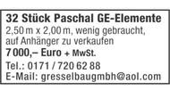 32 Stück Paschal GE-Elemente