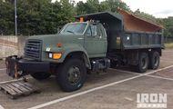 1995 Ford F-Series 6x4 Dump Truck w/ Snow Plow Attachment