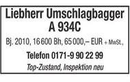 Liebherr Umschlagbagger A 934C