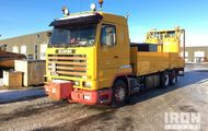 1995 Scania 113M 6x2 Flatbed Truck w/ Road Painting Equipment