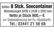 8 Stck. Seecontainer