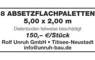 8 Absetzflachpaletten