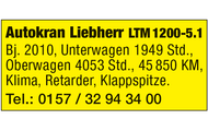 Autokran Liebherr LTM1200-5.1