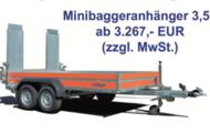 Minibaggeranhänger 3,5 t