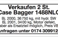 Verkaufen 2 St. Case Bagger 1488NLC