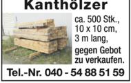 500 Stk. Kanthölzer