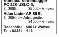 Komatsu PC 228-USLC-3 Kettenbagger u.a.