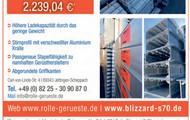 100 m2 neues BLIZZARD S-70 Baugerüst