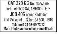 CAT 320 GC und JCB 406