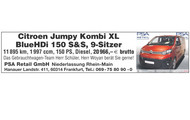 Citroen Jumpy Kombi XL BlueHDi 150 S&S