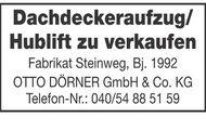 Dachdeckeraufzug/ Hublift zu verkaufen.