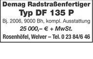 Demag Radstraßenfertiger Typ DF 135 P