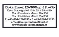 Doka Eurex, Doka Stapelgestell, Hünnebeck Manto