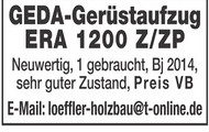 GEDA-Gerüstaufzug ERA 1200 Z/ZP