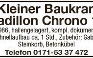 Kleiner Baukran Cadillon Chrono 13