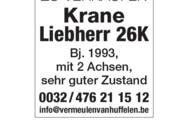 Krane Liebherr 26K