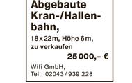 Abgebaute Kran-/Hallenbahn zu verkaufen