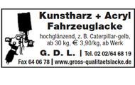 Kunstharz + Acryl Fahrzeuglacke