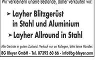 Layher Blitzgerüst & Layher Allround