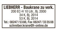 LIEBHERR-Baukrane zu verkaufen