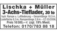 Lischka + Müller 3-Achs-Tieflader