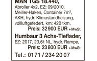 MAN TGS 18.440, Humbaur 3-Achs-Tieflader