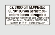 Ca. 3000 qm MJ/Plettac SL70/100 Gerüst