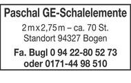 Paschal GE-Schalelemente