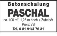 Betonschalung PASCHAL