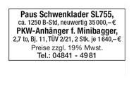 PKW-Anhänger für Minibagger