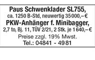 PKW-Anhänger f. Minibagger