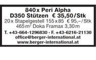 840 x Peri Alpha D350 Stützen