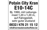ZU VERKAUFEN Potain City Kran E10-14C