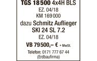 """MAN """"SATTELKIPPER"""" TGS 18 500 + Schmitz Auflieger SKI 24 SL 7.2"""