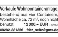 Verkaufe Wohncontaineranlage
