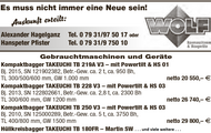 Gebrauchtmaschinen und Geräte: z.B. Kompaktbagger TAKEUCHI TB