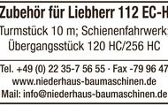 Zubehör für Liebherr 112 EC-H