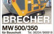 BRECHER MW 500/350 für Bauschutt