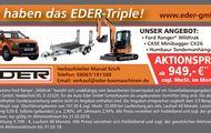 Leasing-Triple: Ford Ranger / CASE Minibagger / Humbaur Tandemanhänger