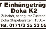 27 Einhängeträger Doka K2
