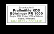 Prallmühle KDS Böhringer PR 1000