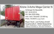 Krone 3-Achs Mega Carrier N